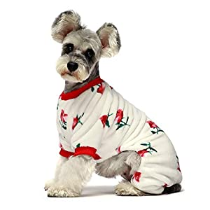 Fitwarm Thermal Pet Winter Clothes for Dog Pajamas Cat Onesies Jumpsuits Puppy Outfits Thick Velvet