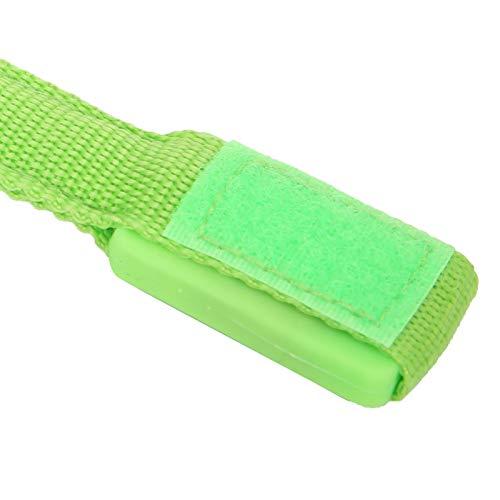 Pulsera LED, ajustable, cómoda pulsera deportiva LED, 0.8 pulgadas para deportes al aire libre para caminar para andar en bicicleta para trotar(verde)