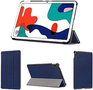 wisers 保護フィルム付き MatePad BAH3-L09 BAH3-W09 10.4 インチ 超薄型 スリム Huawei ファーウェイ タブレット ケース カバー [2020 年 新型] ダークブルー
