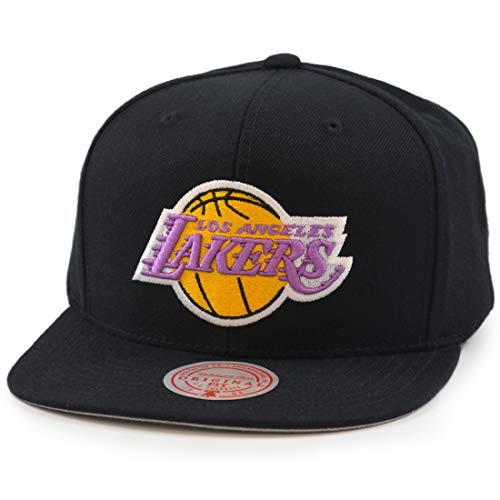 Mitchell & Ness Wool Solid LA Lakers - Gorra de béisbol, color negro