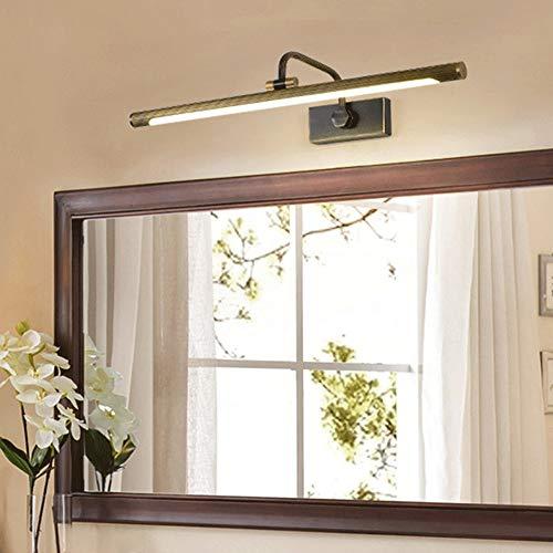 Cuarto de baño LED sobre la lámpara de espejo 240 ° Luz de la pared de la pared de la pared de la luz de la pared, la iluminación de maquillaje, el blanco neutro 4000k, el acabado de cobre [Clase de e
