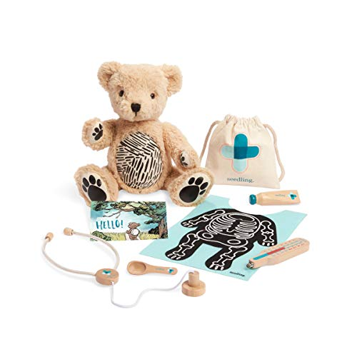 HOMER Parker Interactive Teddy Bear Stuffed Animal for Kids Ages 3-6, Soft, Plush Doll Includes Play Pretend Doctor Set & Learning Toys to Teach Empathy, Connects to iPhone or iPad , 12'
