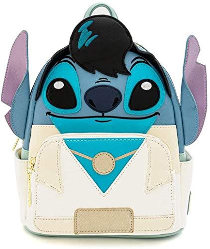 Loungefly x Disney Lilo und Stitch Elvis Stitch Cosplay Mini-Rucksack, blau, WDBK0985