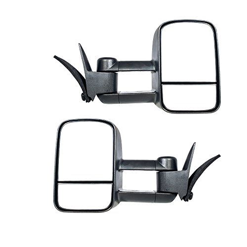 Make Auto Parts Manufacturing Set of 2 Left And Right Side Towing Mirrors Manual Operated For Chevy/GMC C/K 1988-2000 - GM1320123-GM1321123