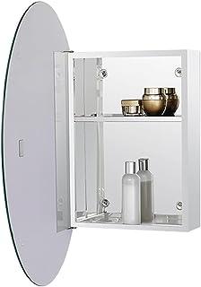 Armoires avec miroir Armoire Miroir Ronde Salle De Bain Étagère en Alliage D'aluminium Armoire De Rangement Salle De Bain ...