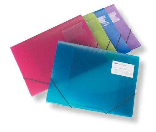 Rapesco 0719 - Carpetas de Tres Solapas A4+, Polipropileno, colores Translúcidos Surtidos, 5 unidades