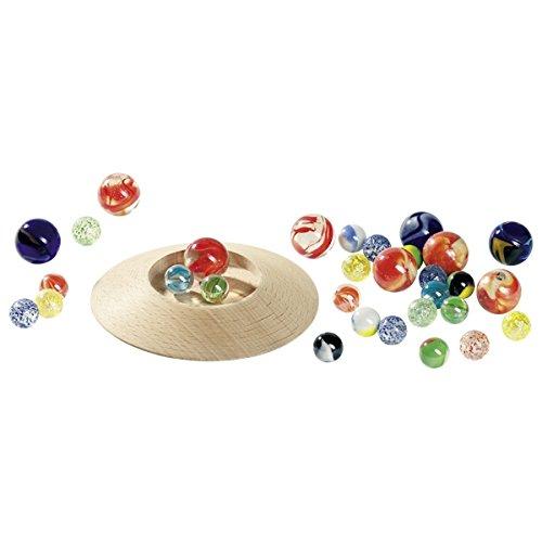 Goki 63947 - Murmeltellerspiel mit 31 Murmeln