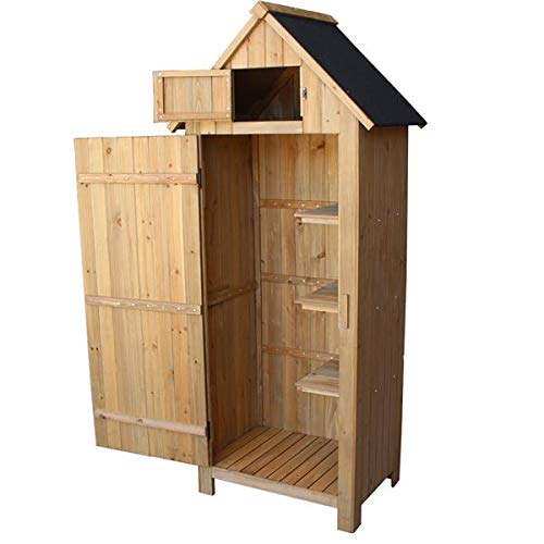 jiange Fir Wood Arrow Shed With Single Door Wooden Garden Shed Wooden Lockers Wood Color