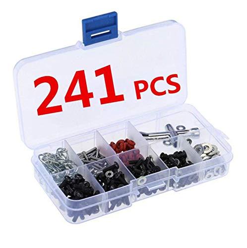 241 Stück 1/10 RC Autoteile, 1/10 HSP RC Auto-Reparaturwerkzeug & Schraubenbox, D3/D4/XIS komplettes Auto-Schraubenzubehör