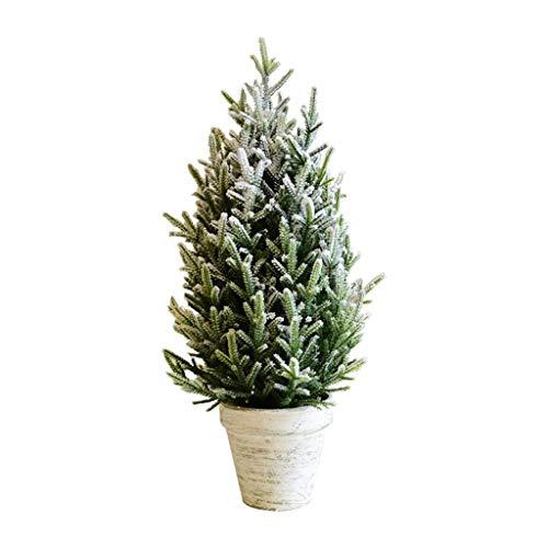 Mano de obra exquisita Árbol de Navidad Christmas Tree Holiday adornos de decoración, Cedar ventana árbol Bonsai de disparo Puntales de escritorio de Navidad Decoración de la Escena ( Color : B-M )
