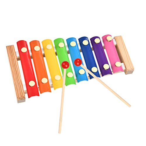 OFNMY Juguete de Xilófono Instrumento Musical de Madera para Regalos Cumpleaños de Niños Bebés