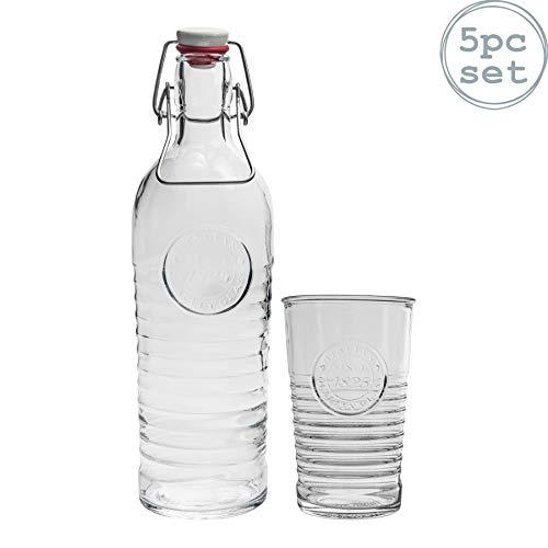Bormioli Rocco Vintage Tumbler Gläser & Flasche mit Plopp-Verschluss