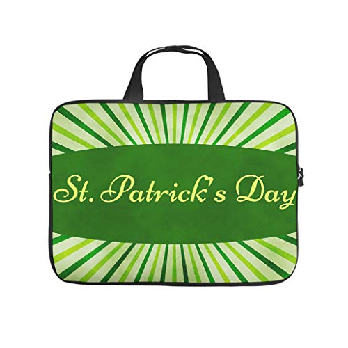 st Patricks Tag - Bolsa para portátil resistente al desgaste, para universidad, trabajo, negocio