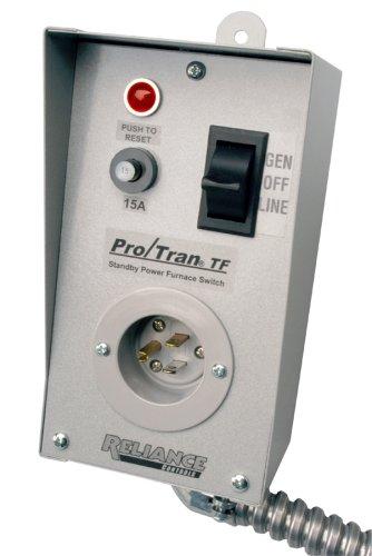 Reliance Controls TF151W Easy Tran Transfer Switch for Generators, Small, Gray
