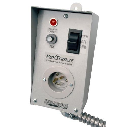 Amazon.com: Reliance Controls TF151W Easy/Tran Transfer Switch for ... Furnace Transfer Switch Wiring Diagram Amazon.com