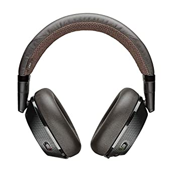 Poly  Plantronics + Polycom  Plantronics BackBeat PRO 2 Headphones - Wireless Noise Cancelling - Black Tan Black and Tan