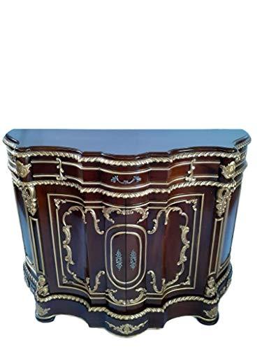 Antik königliche Louis XIV. Louises Barock Rokoko Stilmöbel Kommode Sideboard Kommodenschrank Sideboardschrank Farbe: Nussfarben Breite 131cm