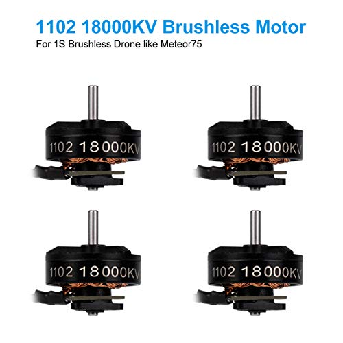 BETAFPV 4pcs 1102 18000KV Brushless Motor 1S FPV Motor for 1S Brushless Micro Whoop Drone Like Meteor75 1S BT2.0 Micro Drone