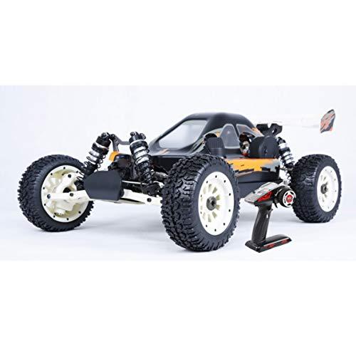 LOSA 4WD RC Buggy Gasolina, 1/5 de Coches de Juguete de Gas Off Road con 30.5cc Motor de Gasolina para el Adulto, 2.4G regulador de Radio Incluyó,Blanco