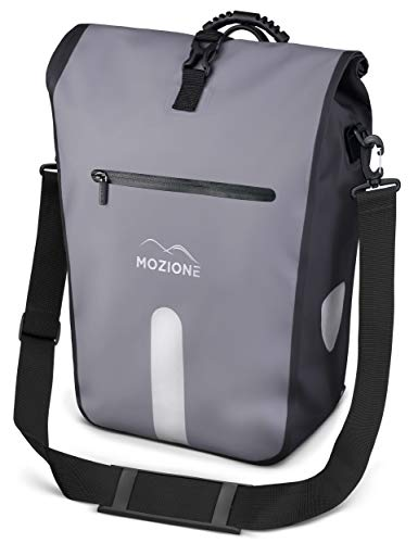 Mozione Hinterradtasche - wasserdichte Fahrradtasche für Gepäckträger mit Schultergurt, Tragegriff & Laptopfach