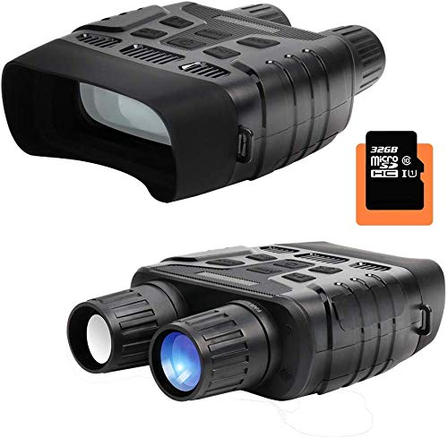 HD Digital Night Vision Binoculars Tarnel Infrared Waterproof 640x480 30FPS Photo Camera and Camcorder with 400m Detection Range 2.3 Inch TFT LCD with 32G Memory Card