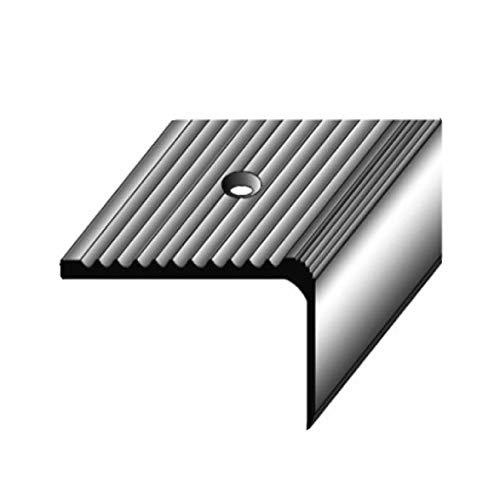 Treppenkantenprofil (23 mm x 40 mm) Aluminium, spezialemail, nachl. Rillen, gebohrt, dunkelgrau