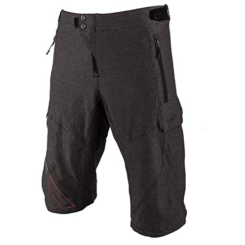 O'NEAL | Kurze Mountainbike-Hose | MTB DH Downhill FR Freeride | Überknielänge, hohe Bewegungsfreiheit, schnell trocknendes Performance-Material | Tobanga Shorts | Erwachsene | Grau Rot | Größe 28