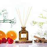 Pristine Inspired by The Hilton Hotel Reed Diffuser Set | Reed Oil Diffuser Sticks 1.6oz | Fresh as The World Class Hotel - Raspberry, Rose - Unique Blend to Provide Lasting Scent | Home Fragrance