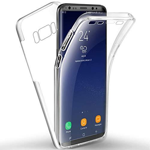 NewTop Cover per Samsung Galaxy S8, Custodia Crystal Case in TPU Silicone Gel PC Protezione 360° Fronte Retro Completa