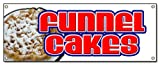 72' Funnel Cakes Banner Sign Cake concessions Sign Signs