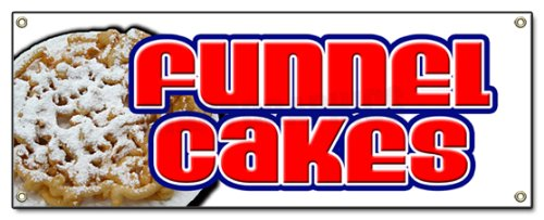 "72"" Funnel Cakes Banner Sign Cake concessions Sign Signs"