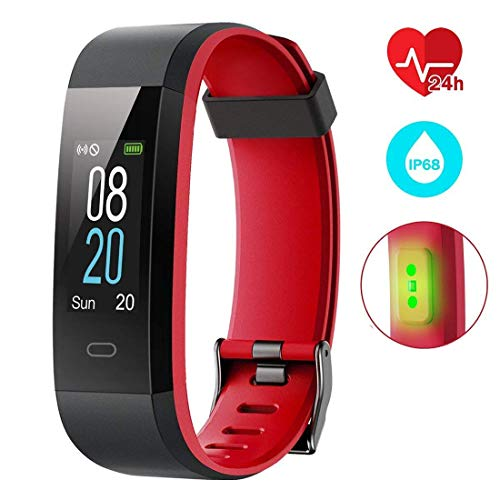 Smart-Activity-tracker, waterdicht IP68, 0,96 inch kleurendisplay met 14 modi met calorieverbruik, slaap, hartslag en stappenteller, GPS 12-15 dagen, camera voor iOS en Android