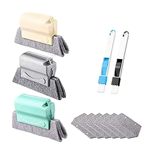 TEBI 1 Set Spazzola per la pulizia della scanalatura della finestra Magica Slot Angolo Cleaner Kit di Strumenti