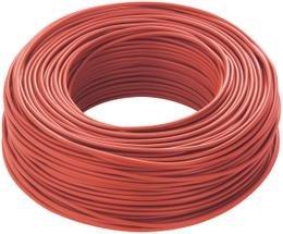 CAVO ELETTRICO UNIPOLARE N07V-K CAVO 1x6 mm² ISOLATO CON PVC MATASSA DA 100 METRI COLORE ROSSO FLESSIBILE