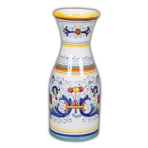 Arte D'Italia Imports Hand Painted Italian Ceramic Ricco Wine Carafe - Handmade in Deruta