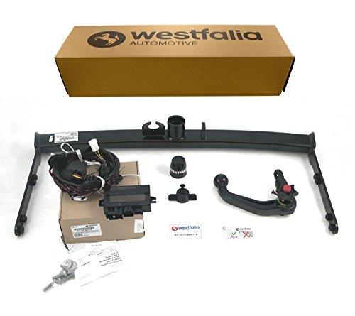 Westfalia abnehmbare Anhängerkupplung - AHK für Skoda Fabia 3 Combi (ab BJ 01/2015) und Schrägheck (ab BJ 11/2014) - Im Set mit 13-poligem fahrzeugspezifischem Westfalia Elektrosatz