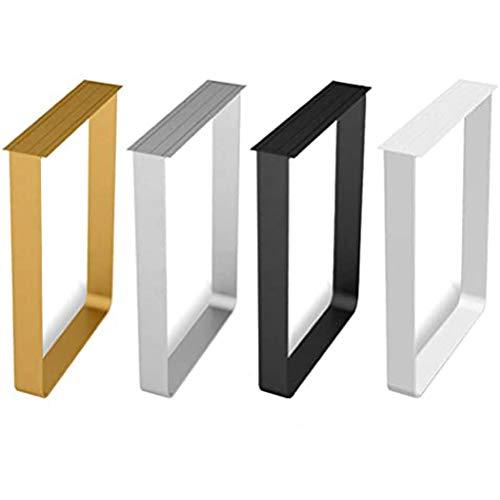 ZHPBHD DIY Patas de la Mesa X2, Patas de Metal Muebles de Apoyo, Utilizado for la Cocina mesas de Comedor, Barras de Bar (Color : Silver, Size : 60x70CM (Two Pieces))