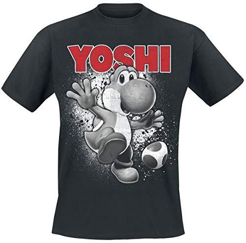 Super Mario Yoshi - Ride Männer T-Shirt schwarz L 100% Baumwolle Fan-Merch, Gaming, Nintendo, Yoshi