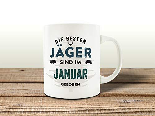 Interluxe Tasse Kaffeebecher DIE BESTEN JÄGER Monat Januar Förster Forstamt Hochstand Jagd