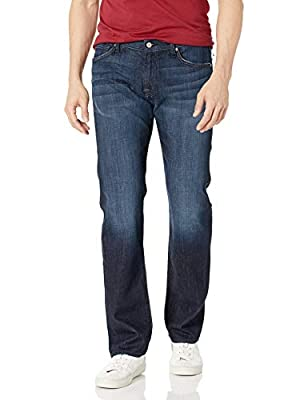7 For All Mankind Men's Standard Straight Leg Jean in Los Angeles Dark, Los Angeles Dark, 33X34 from Seven For All Mankind
