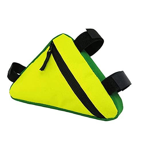 NiceJoy Bolsa de Almacenamiento de Bicicletas Bicicletas, Triángulo Marco de una Silla Bolsa de Ciclismo Bolsillo Delantero del Tubo de teléfono a Prueba de Agua Accesorios de la Bici (Amarillo)