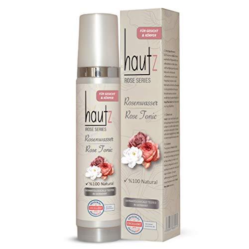 HAUTz Rosenwasser 100% Natürlich - Vegan, Bio - reinigendes & pflegendes Gesichtswasser in praktischer Sprühflasche, 200ml