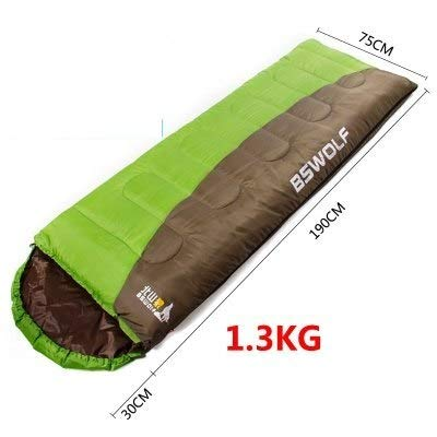 RubyShopUU BSWolf Ultralight Cotton Camping Sleeping Bag Winter Autumn Envelope Hooded Outdoor Camping Vacuum Bed Camping Accessories