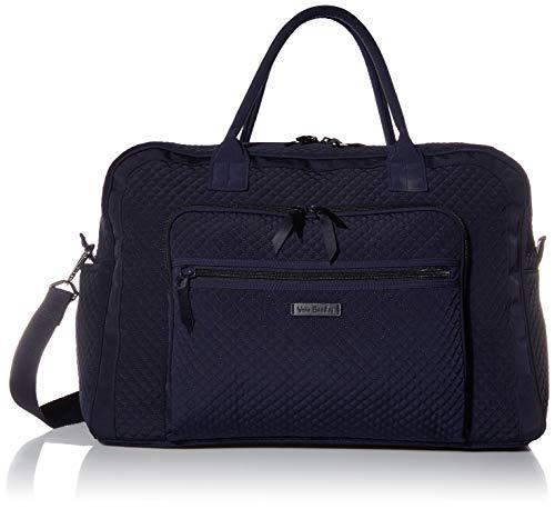 Vera Bradley Women's Microfiber Weekender Travel Bag, Navy, One Size