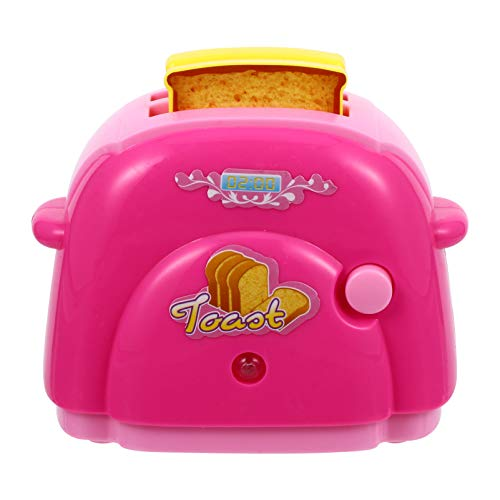 jojofuny Juguete Tostador para Niños Juguete Ligero Juego de Cocina Rebanadora de Pan Modelo de Casa de Muñecas para Niños Juguete para Niños Pequeños Finja Jugar Aprendizaje Temprano