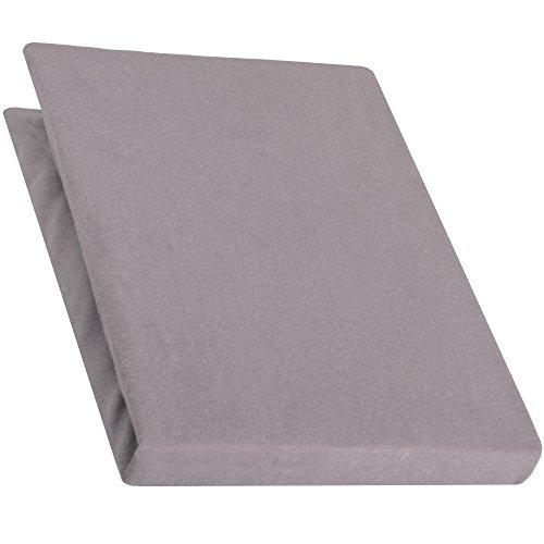 aqua-textiel Pur Topper hoeslaken 120x200-130x200 cm donkergrijs boxspringbedden topperlaken katoen