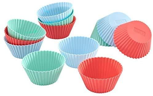 Lurch 83013 Moule Flexi Muffin pour 12 pcs, Silicone, Noir, 23 x 12 x 2 cm