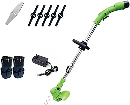 LHMYHHH Electric Lawn Mower Cordless Telescopic Grass Trimmer Pruning Cutter Kit Garden Tool Weeder Grass Pruning Cutter-12V3000 mA 2 Batteries