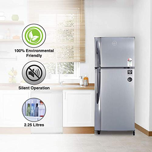 Godrej 236 L 2 Star Inverter Frost-Free Double Door Refrigerator with jumbo vegetable tray (RF EON 236B 25 HI SI ST, Stainless Steel) 6