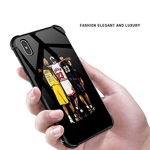 iPhone XR Case,USABasketballStar 33 Pattern Design 9H Tempered Glass iPhone XR Cases for Girls Men Boy Women [Anti-Scratch] Fashion Cover Case for iPhone XR(6.1inch)